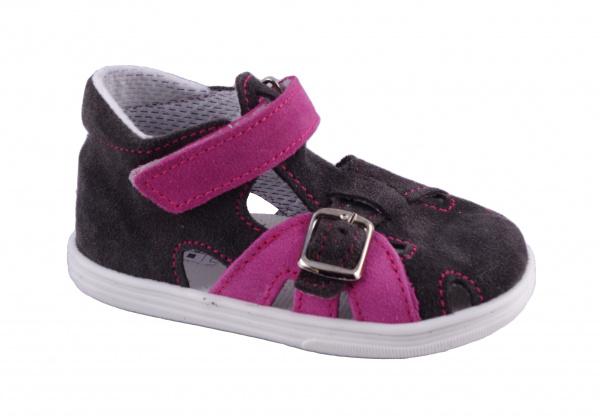 2b9052c703168 Jonap - J009/S šedá/růžová, letní boty | Dětská obuv | první botičky ...